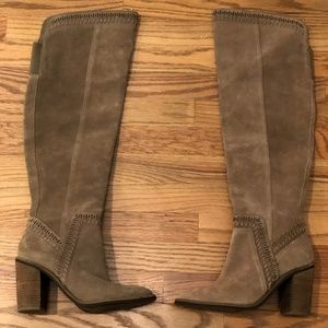 Vince Camuto Madolee Greystone Suede Over The Knee